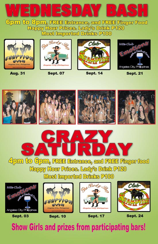 Wednesday Bash and Crazy Saturday Party