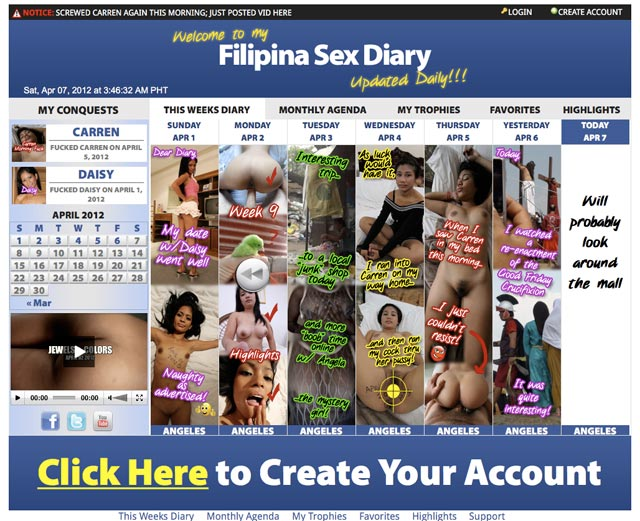 filipinasexdiary01 Filipina Sex Diary just launched