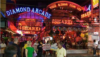 Walking Street, Pattaya At Night